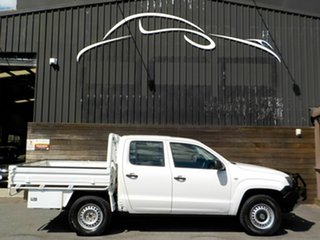 2014 Volkswagen Amarok 2H MY14 TDI420 4Motion Perm White 8 Speed Automatic Cab Chassis.
