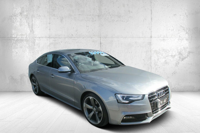 Used Audi A5 8T MY15 Sportback S Tronic Quattro Bendigo, 2015 Audi A5 8T MY15 Sportback S Tronic Quattro Silver 7 Speed Sports Automatic Dual Clutch