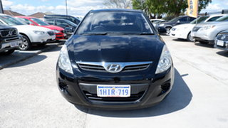2011 Hyundai i20 PB MY11 Active Black 5 Speed Manual Hatchback.