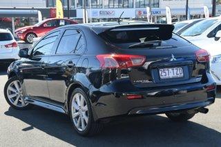 2012 Mitsubishi Lancer CJ MY12 VR-X Sportback Black 6 Speed Constant Variable Hatchback.