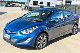 2014 Hyundai Elantra MD3 Premium Blue 6 Speed Sports Automatic Sedan