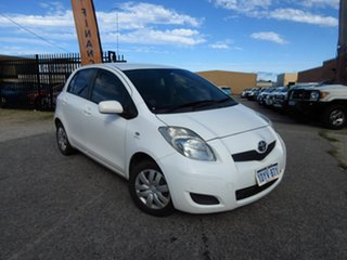 2010 Toyota Yaris NCP90R 08 Upgrade YR White 4 Speed Automatic Hatchback.