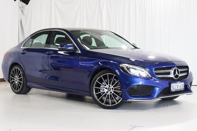 Used Mercedes-Benz C-Class W205 807+057MY C200 9G-Tronic Wangara, 2017 Mercedes-Benz C-Class W205 807+057MY C200 9G-Tronic Blue 9 Speed Sports Automatic Sedan