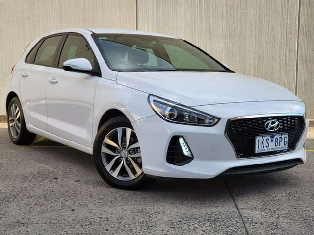 Used Hyundai i30 PD MY18 Active Oakleigh, 2017 Hyundai i30 PD MY18 Active White 6 Speed Sports Automatic Hatchback