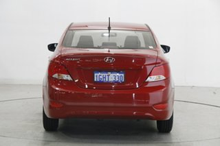 2017 Hyundai Accent RB4 MY17 Active Veloster Red 6 Speed Constant Variable Sedan