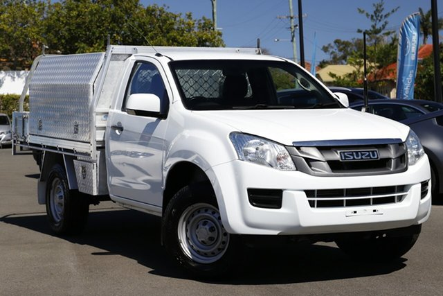Used Isuzu D-MAX MY15.5 SX Crew Cab 4x2 High Ride Mount Gravatt, 2016 Isuzu D-MAX MY15.5 SX Crew Cab 4x2 High Ride White 5 Speed Sports Automatic Cab Chassis