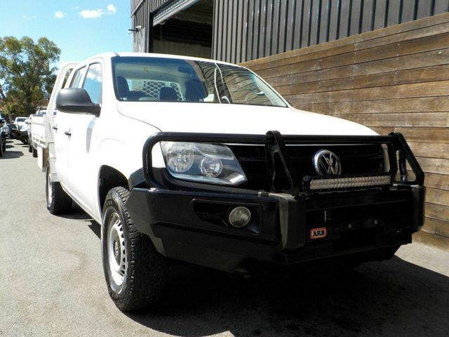 Used Volkswagen Amarok 2H MY14 TDI420 4Motion Perm Labrador, 2014 Volkswagen Amarok 2H MY14 TDI420 4Motion Perm White 8 Speed Automatic Cab Chassis