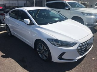 2016 Hyundai Elantra AD MY17 Elite White 6 Speed Sports Automatic Sedan.