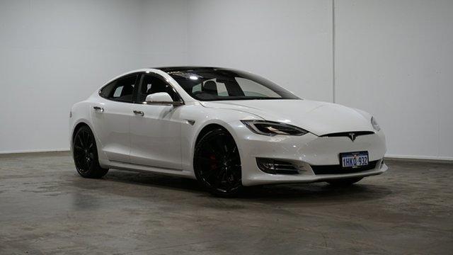 Used Tesla Model S P90D Sportback Sedan AWD Welshpool, 2016 Tesla Model S P90D Sportback Sedan AWD White 1 Speed Reduction Gear Hatchback