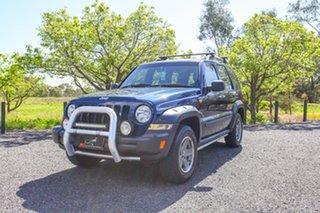 2005 Jeep Cherokee KJ MY2005 Renegade Blue 4 Speed Automatic Wagon.