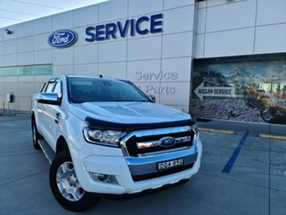 2017 Ford Ranger PX MkII 2018.00MY XLT Super Cab Frozen White 6 Speed Manual Utility.