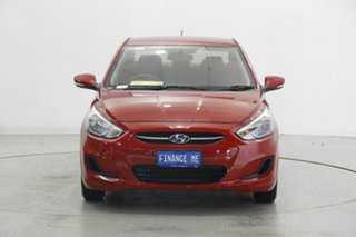 2017 Hyundai Accent RB4 MY17 Active Veloster Red 6 Speed Constant Variable Sedan.