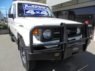1995 Toyota Landcruiser HZJ75RV Troopcarrier White 5 Speed Manual Hardtop.