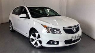 2013 Holden Cruze JH Series II MY13 CD White 6 Speed Sports Automatic Hatchback.