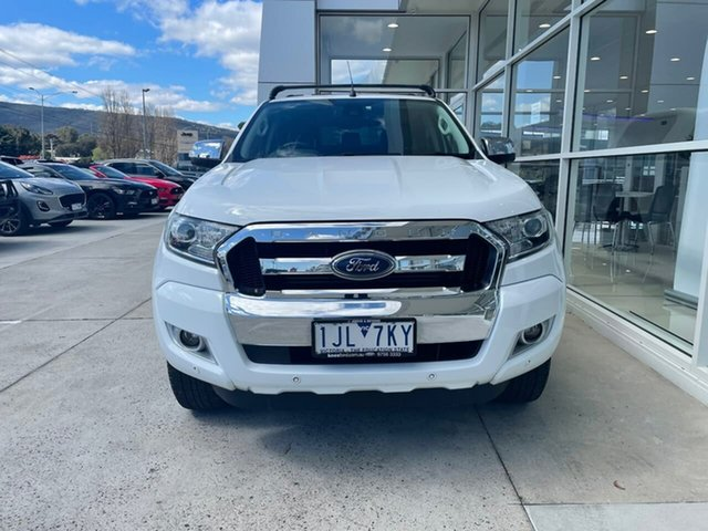 Used Ford Ranger PX MkII XLT Double Cab 4x2 Hi-Rider Ferntree Gully, 2017 Ford Ranger PX MkII XLT Double Cab 4x2 Hi-Rider White 6 Speed Sports Automatic Utility