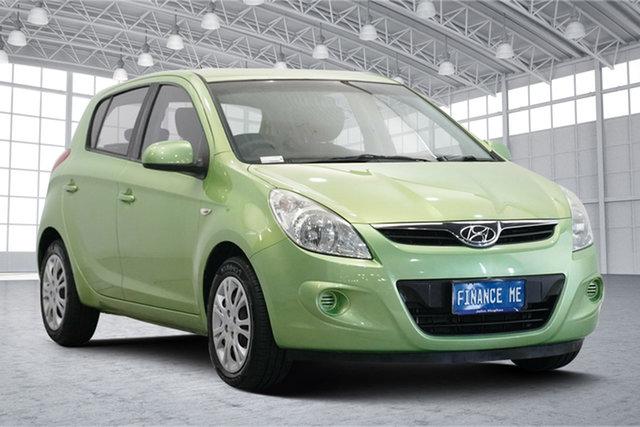 Used Hyundai i20 PB MY12 Active Victoria Park, 2012 Hyundai i20 PB MY12 Active Electric Green 4 Speed Automatic Hatchback