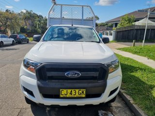 2016 Ford Ranger PX MkII XL 2.2 Hi-Rider (4x2) White 6 Speed Automatic Cab Chassis