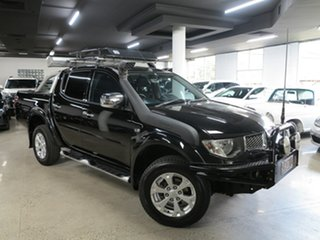 2015 Mitsubishi Triton MN MY15 GLX-R Double Cab Black 5 Speed Sports Automatic Utility.