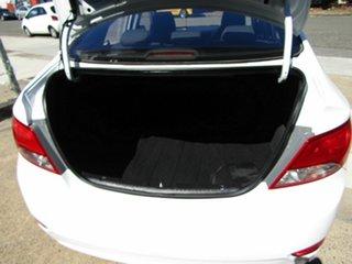 2016 Hyundai Accent RB3 MY16 Active White 6 Speed Manual Sedan.
