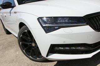 2021 Skoda Superb NP MY21 206TSI DSG SportLine Moon White 6 Speed Sports Automatic Dual Clutch Wagon.