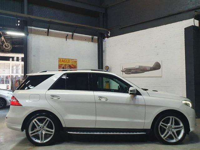 Used Mercedes-Benz M-Class W166 MY805 ML350 BlueTEC 7G-Tronic + Port Melbourne, 2014 Mercedes-Benz M-Class W166 MY805 ML350 BlueTEC 7G-Tronic + White 7 Speed Sports Automatic Wagon