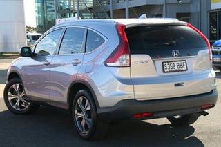 2014 Honda CR-V RM MY14 DTi-L 4WD Alabaster Silver 5 Speed Sports Automatic Wagon.