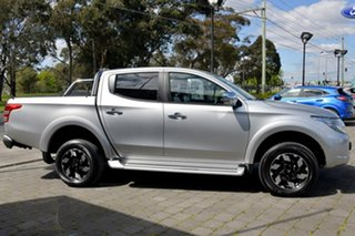 2017 Mitsubishi Triton MQ MY17 Exceed Double Cab Silver, Chrome 5 Speed Sports Automatic Utility.