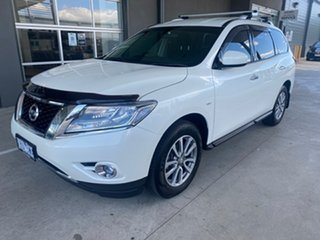 2016 Nissan Pathfinder R52 MY16 ST X-tronic 4WD White 1 Speed Constant Variable Wagon.