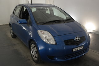 2007 Toyota Yaris NCP91R YRS Blue 4 Speed Automatic Hatchback.