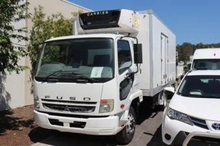 2010 Mitsubishi Fuso Fighter FK White Manual Refrigerated Truck.