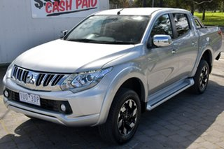 2017 Mitsubishi Triton MQ MY17 Exceed Double Cab Silver, Chrome 5 Speed Sports Automatic Utility