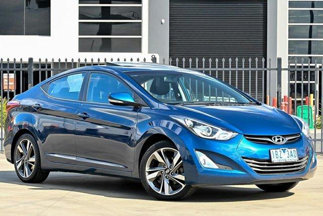 Used Hyundai Elantra MD3 Premium Pakenham, 2014 Hyundai Elantra MD3 Premium Blue 6 Speed Sports Automatic Sedan