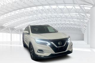 2018 Nissan Qashqai J11 MY18 TI White Continuous Variable Wagon.