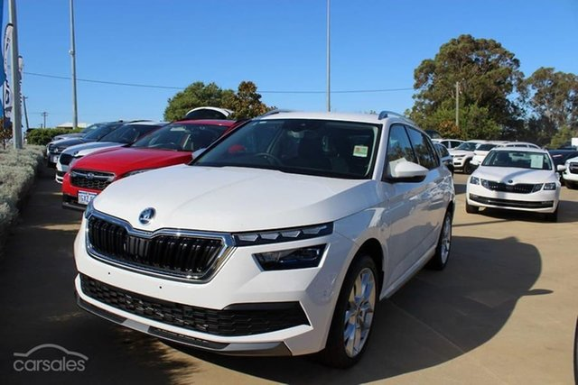 New Skoda Kamiq NW MY21 110TSI DSG FWD Limited Edition Hamilton, 2021 Skoda Kamiq NW MY21 110TSI DSG FWD Limited Edition Moon White 7 Speed