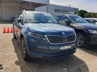 2021 Skoda Kodiaq NS MY21 132TSI DSG Lava Blue 7 Speed Sports Automatic Dual Clutch Wagon.