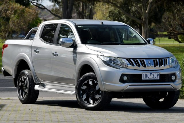 Used Mitsubishi Triton MQ MY17 Exceed Double Cab Dandenong, 2017 Mitsubishi Triton MQ MY17 Exceed Double Cab Silver, Chrome 5 Speed Sports Automatic Utility