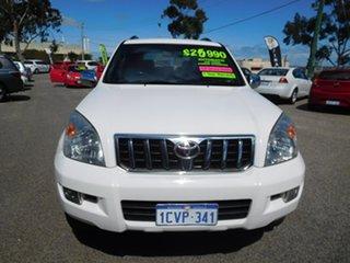 2008 Toyota Landcruiser Prado GRJ120R GXL White 5 Speed Automatic Wagon.