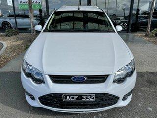 2014 Ford Falcon FG MK2 XR6T White 6 Speed Auto Seq Sportshift Utility.