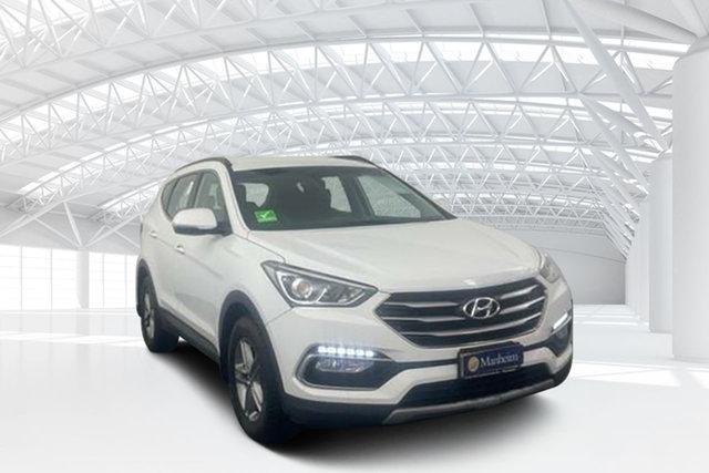Used Hyundai Santa Fe DM3 MY17 Active Moorebank, 2017 Hyundai Santa Fe DM3 MY17 Active White 6 Speed Sports Automatic Wagon