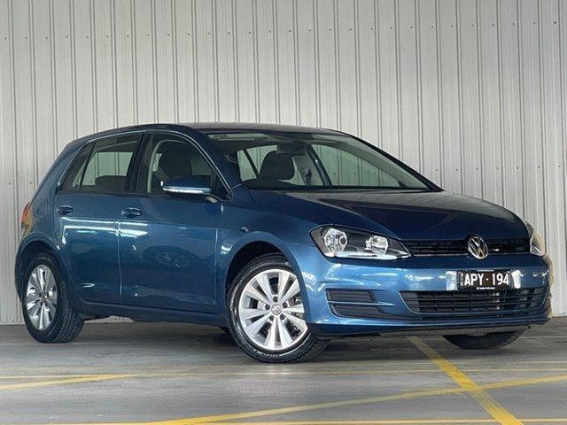 Used Volkswagen Golf VII MY16 92TSI DSG Comfortline Moorabbin, 2015 Volkswagen Golf VII MY16 92TSI DSG Comfortline Blue 7 Speed Sports Automatic Dual Clutch