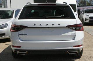 2021 Skoda Superb NP MY21 206TSI DSG SportLine Moon White 6 Speed Sports Automatic Dual Clutch Wagon
