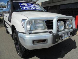 2002 Toyota Landcruiser HZJ105R GXL White 5 Speed Manual Wagon.