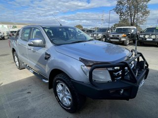 2012 Ford Ranger PX XLT 3.2 (4x4) Silver 6 Speed Manual Double Cab Pick Up.