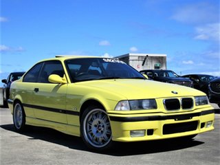 1997 BMW M3 E36 Yellow 6 Speed Manual Coupe.