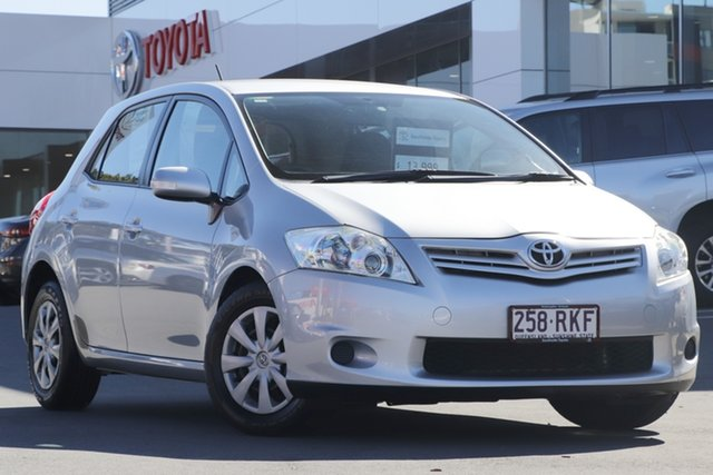 Pre-Owned Toyota Corolla ZRE152R MY10 Ascent Woolloongabba, 2010 Toyota Corolla ZRE152R MY10 Ascent Silver 4 Speed Automatic Hatchback
