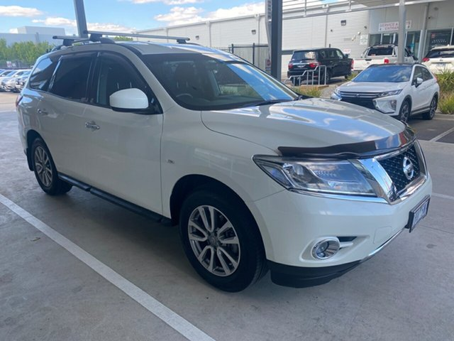 Used Nissan Pathfinder R52 MY16 ST X-tronic 4WD Essendon Fields, 2016 Nissan Pathfinder R52 MY16 ST X-tronic 4WD White 1 Speed Constant Variable Wagon