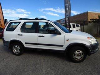 2002 Honda CR-V MY02 (4x4) White 4 Speed Automatic Wagon.