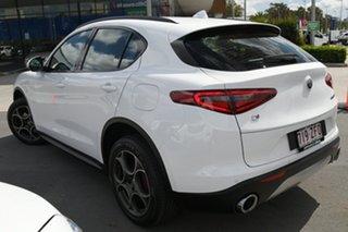 2018 Alfa Romeo Stelvio AWD White 8 Speed Sports Automatic Wagon.