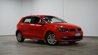 2017 Volkswagen Polo 6R MY17.5 66TSI DSG Urban Red 7 Speed Sports Automatic Dual Clutch Hatchback.