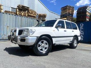 2001 Toyota Landcruiser HDJ100R GXL White 4 Speed Automatic Wagon